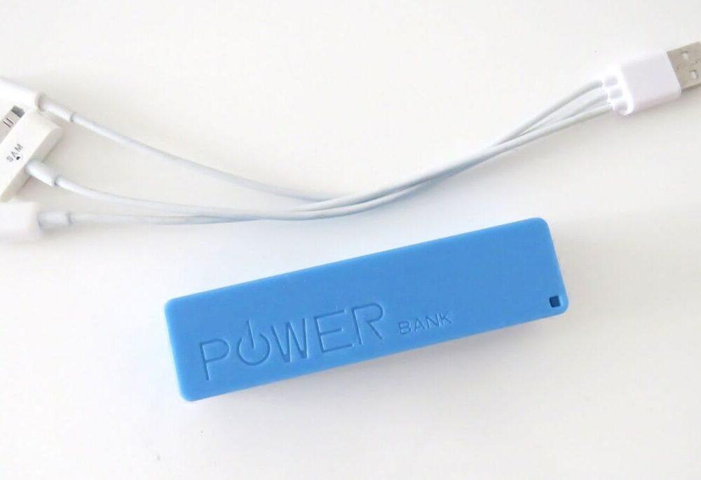 Bateria Auxiliar para Celular Azul