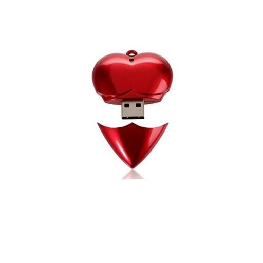 Pen Drive Chave Formato Coração