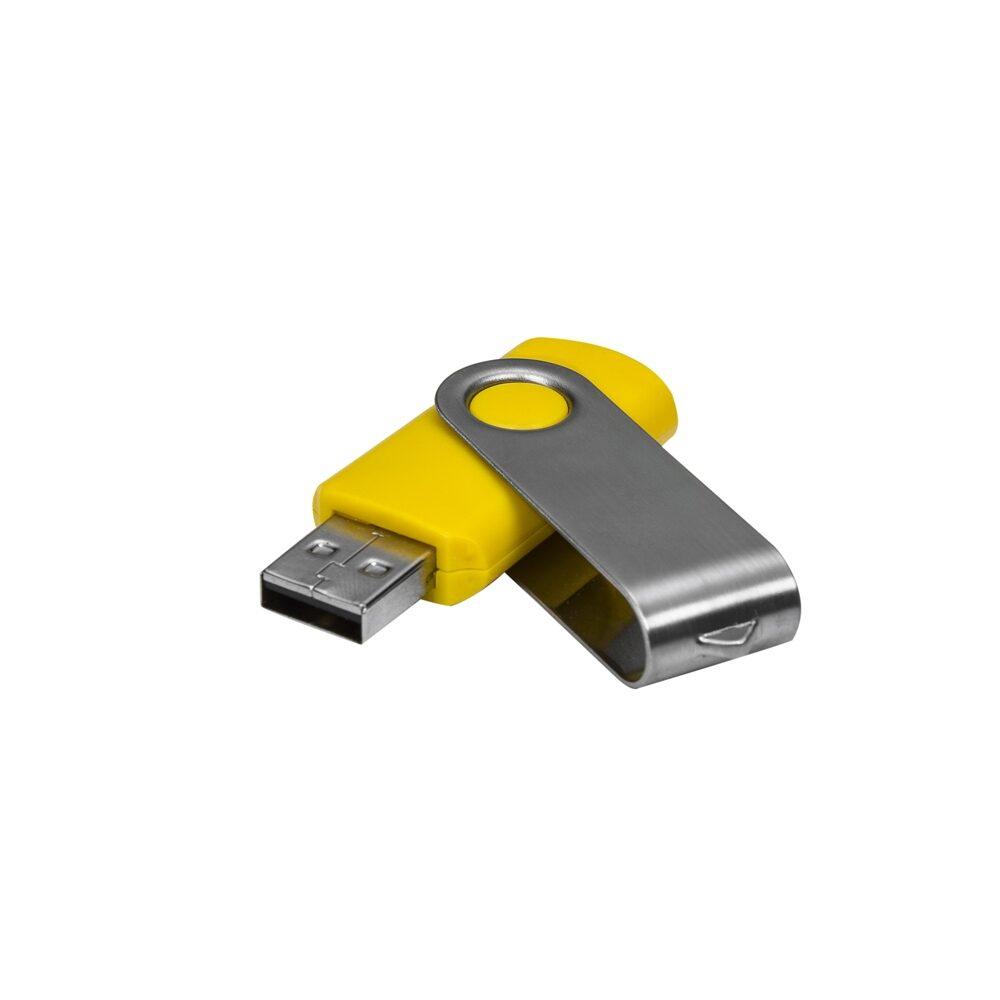 Pen Drive Personalizado Giratório Amarelo