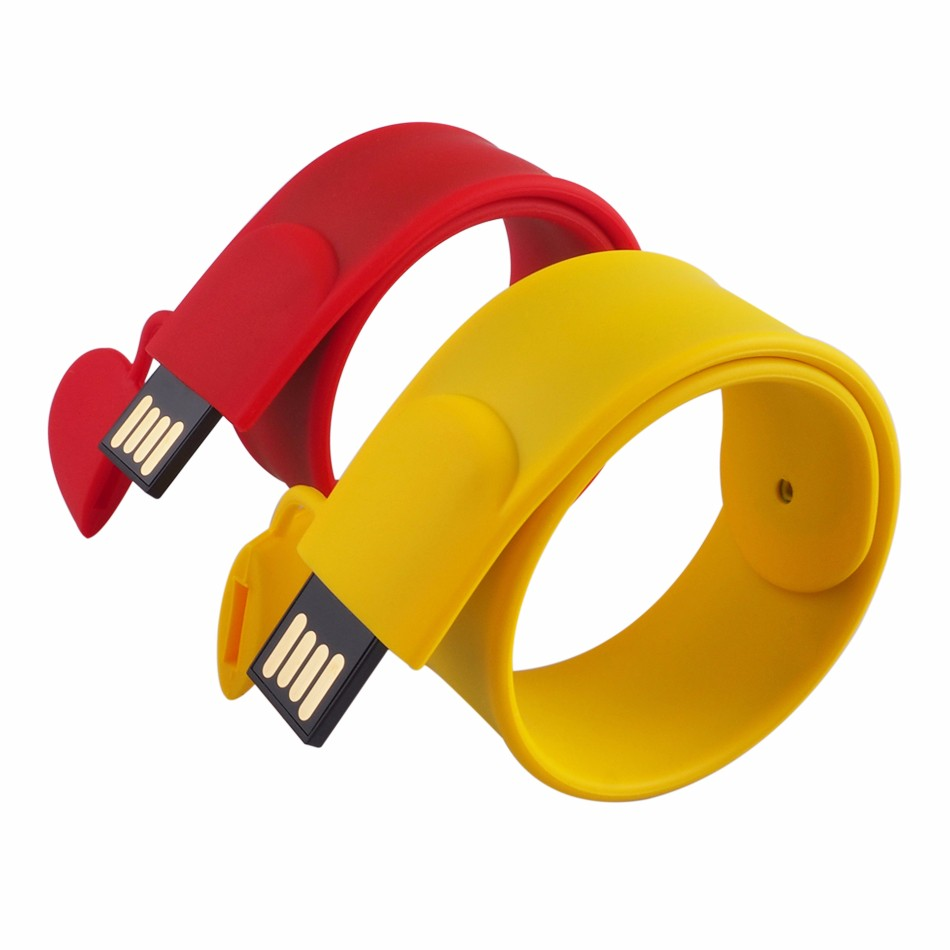 Pulseira Pen Drive Colorida